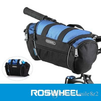 bolsa de bicicleta de embalaje al por mayor-2 colores Roswheel Utility Bicycle Bags 5L Bike Handlebar Bag Bicycle Tubo delantero Pocket Shoulder Pack Equitación Ciclismo Suministros + B