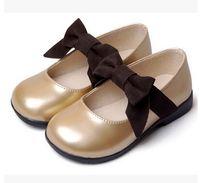 Wholesale Dress Shoes Girl Bow - Girls Dress Shoes Kids Leather Shoes Children Shoes Kids Footwear Fashion Casual Princess Dress Shoes Children Dress Shoes