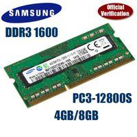 Wholesale 8gb Ddr3 Ram Laptop - SAMSUNG 4GB 8GB PC12800 Laptop SoDimm Memory DDR3 RAM 1600MHz 4GB 8GB DDR3 PC3-12800 1600 204 Pin 4G 8G memory