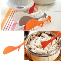 Wholesale Random Meals - Wholesale- 2017 Hot Sales 1 Pcs Lovely Kitchen Supplie Squirrel Shaped Ladle Non Stick Rice Paddle Meal Spoon Novelty Gift Random Color
