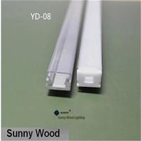 Wholesale Led Pcb Aluminium - Free shipping10pcs lot 1m pc led aluminium profile for 3528 strip, 8mm PCB board led bar light,YD-08