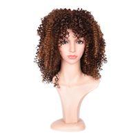 Wholesale Cheap Braided Wigs - Siyusi Hair Products Curly Hair Synthetic Wigs Cheap Braided Synthetic Hair 200g 6 colors Short Synthetic Fashion Wigs