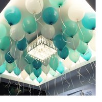 Wholesale Wedding Decoration Imports - 2.2g Latex Balloons white   Tiffany Blue Round Party Import Baloes Toys For Children Wedding party decoration Thicken Balls WA1263