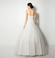 Wholesale Wedding Gowns For Big Women - Cheap Plus Size Wedding Dress for Big Women Sweetheart Sleeveless Applique Beaded Sequin A-line Bridal Wedding Gowns