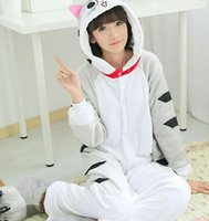 Wholesale Pajamas Cat Print - Wholesale-Hot 2016 New Unisex Adult Pajamas Anime Cosplay Costume Onesie Sleepwear cheese cat