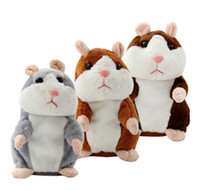 Wholesale Hamster Cat - Talking Hamster Mouse Pet Plush Toy Hot Cute Sound Record Hamster Educational Toy for Kids Gift