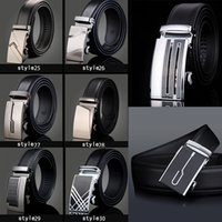 Wholesale Oversized Belt Buckles - Luxury Designer Belts New Fashion Men High Quality Men Genuine Leather Brand Belts Oversized Cowhide Alloy Automatic Buckle Leather Strap