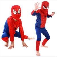 Wholesale Movie Theme - Theme Costume Red spiderman costume black spiderman batman superman halloween costumes for kids superhero capes anime cosplay carnival costu