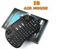 ingrosso mouse di tastiera del bluetooth android-Tastiera wireless 10X 2016 Tastiere rii i8 Fly Air Mouse Telecomando multimediale Telecomando Touchpad portatile per TV BOX Android Mini PC