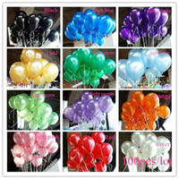 Wholesale Red Black Latex Balloons - Free Shipping 300 Pcs Lot 1.5g Balloon Ball Helium Inflable Giant Latex Balloons For Wedding Birthday Party Decoration