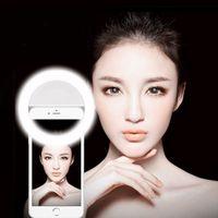 Wholesale Iphone 1d - Wholesale- 1D Ring LED Portable Light case Phone Light Beauty Selfie Ring Flash Fill light for iPhone 5 6 6s plus 7 7 plus Samsung s6 s7