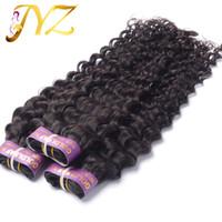 "Wholesale Malaysian Hair 3pcs - Brazilian Virgin Hair Peruvian Malaysian Indian Hair Weft Weave 100% Unprocessed 8""-30"" Deep Wave Natural Color Hair Extensions 3pcs lot"
