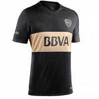 Wholesale Boca Juniors Shorts - 2017 Boca Soccer Jersey 2016 17 Boca Junior 3rd Soccer Jerseys 16 17 Argentina Club Football Shirts Thai Quality Third Black Jeresys