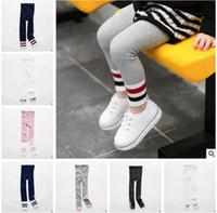 Wholesale Wholesale Toddler Knit Leggings - Baby Girl Leggings Tights Korea Girls FALL Winter Cotton Knitted Infant Toddler Baby Kids Leggings Girls Boys Letter Striped Legging 944