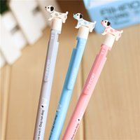 Wholesale Free Pencils For Kids - Wholesale- 4 pcs lot0.5mm Cute Kawaii Mechanical Pencil Cartoon Dog Plastic Automatic Pens For Kids Gift School Supplies Free Shipping 2132