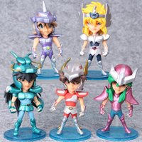 Wholesale Zodiac Action Figure - 5Pcs Set 10cm Saint Seiya Action Figures Knights of the Zodiac Doll Janpaness Anime Cartoon Toys Kids Christmas Gifts