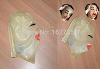 Wholesale Gummi Rubber Latex - Wholesale-Free Shipping! 100% Latex Rubber Gummi 0.45mm Mask Hood Party Costume Suit Halloween Hot Mask