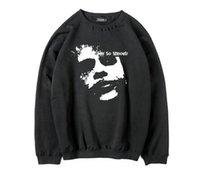 Wholesale Fleece Fabric Animal - cotton blend why so serious batman printed men hoodies casual Thick Fleece fabric crewneck warm mens sweatshirts