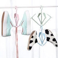 Wholesale Scarves Multi Hanger - New 3Pcs Hanging Racks Rotary Balcony Storage Hanger Small Multi-function Outdoors Wet Dual Sandals Shoes Laundry Drying Rack 403900008