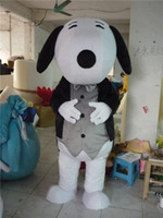 Wholesale Snoopy Mascot Costumes Halloween - 2016 EPE Adult Size Black and Blue Snoopy Dog Mascot Costume Halloween Chirastmas Party Fancy Dress Free Shipping