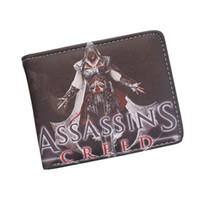 Wholesale Cooler Master Wholesale - Cool Game Wallets Wholesale Assassin's Creed Master Assassin Altair Wallet For Young Boy Girl Student Leather Short Money Bag Wallet Purses