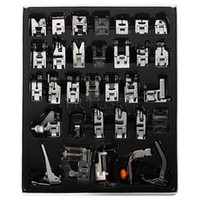 Wholesale Brother Presser Foot - New Domestic Sewing Machine Presser Foot Feet Kit Set 32pcs Free Shipping For Brother Singer Janome #4012