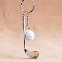 Wholesale Sports Wholesale For Souvenir - New Sports Souvenir Metal Golf Keychain Various Colors Ball Golf Keyring Mini Golf Ball Keychain For Wholesale