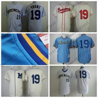 Wholesale Robin Baseball - 2016 Robin Yount Jersey 1982 Retro Blue White Pinstripe Milwaukee Brewers Jerseys Throwback