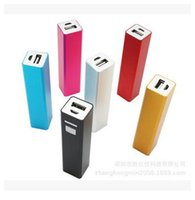 Wholesale Iphone5 Backup - 2600mAh USB Portable External Backup Battery Charger Power Bank for iPhone5 iphone6 Samsung mobile phone +free USB Cable