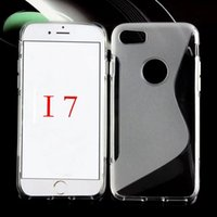 Wholesale Iphone Gel S Line Cases - 2016 S Line Case For iphone 7 6 6s Plus 5 5s 4 4s S6 S7 Soft TPU Case Silicone Gel Covers For iphone 7 4.7 5.5 Cases