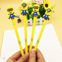 Wholesale Despicable Stationery - Cute Minions Despicable Me Pen Cartoon Writing Gel Pen For Children Kids Toy School Office Stationery Free DHL