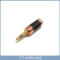 Wholesale Audio High End Speakers - 4pcs lot Free shipping High End permance Carbon fiber audio 3.5 jack plug terminal