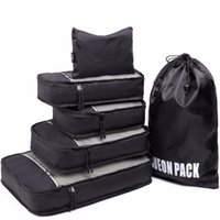 Wholesale Shoe Organizer For Travel - Best Seller Lightweight Travel Packing Cubes 6pcs With Laundry Shoe Bag Suitcase Compression Cubes for Lage Organizer
