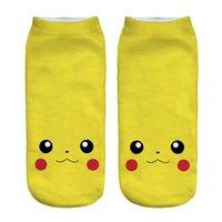 Wholesale Digital Slippers - 2017 New Poke Pocket Socks Fashion Monster Ankle Socks Poke Pikachu Sock Slippers Poke Ball Boat Socks 3D Print Digital Socks Poke Hosiery