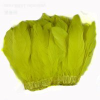 Franges De Plumes À Bas Prix Pas Cher-Goose pas cher Feather Découper Feather Franges 2meters / lot Goose Feather Fringe Couture Costumes Knitting Yarns Duck Goose Feather Parage