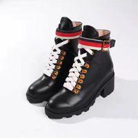 bottes lacées à boucle noire achat en gros de-