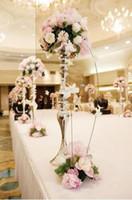 tables de mariage achat en gros de-Livraison gratuite 65cm hauteur mariage table décoration mariage fleur stand