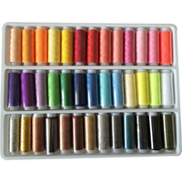 Wholesale Sewing Thread Roll - PACK 39 PCS ASSORTED COLOURS MIXED COLORS SEWING THREAD ROLL HAND MACHINE EMBROIDERY POLYESTER SPOOL HIGH QUALITY WHOLESALE