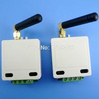 Wholesale Data Module - 2x 433mhz 1km Long Distance UART RS485 UART Wireless Transceiver Module RF Serial Port Data Passthrough Board for PTZ Modbus PLC