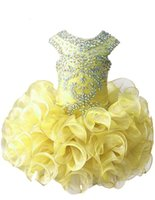 Wholesale Kids Cupcake Skirt - Colourful Toddlers Princess Pageant Party Dresses Little Kids Party Ball Gowns Ruffles Sleeveless Mini Cupcake Skirts