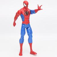 regalo de los pitufos al por mayor-30cm American Movie Anime Super Heros Capitán América Ironman Spiderman El Primer Superhéroe PVC Figura Juguete