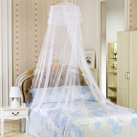 Wholesale Double Comforter Sets - Girls Queen Mosquito Net Comforters Sets Curtain Bed Net Hanging Round Princess Mosquitoes Portable Double Beddings 4 Color 65*260*1260Cm