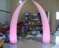 Wholesale wonderful colors for sale - Cheapest Wonderful colors Changing LED Portable Light Inflatable Wedding Decorations Inflatable Tusk with Remote Control