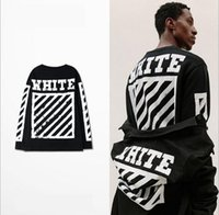 Wholesale New Shirt Style Collection - New Collection Off White C O Mirror men hiphop t shirt summer mix style teenager hot tops tee Virgil Abloh