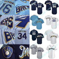 fb8f10d5a ... Milwaukee Brewers Throwback Jersey Bud Selig Paul Molitor Cecil Cooper  Robin Yount Hank Aaron Bob Uecker Mens ...
