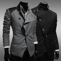 Wholesale Cashmere Suit Coat - Hot selling!Casual suit male slim blazer coat fashion commercial single suit man spell color jacket M-2XL(asian size)