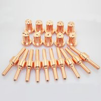 Wholesale Plasma Cutter Tips - 20pcs Extended PT-31 cutting torch Consumables for 40A 50A inverter Air Plasma Cutter and CT520 Welding machine electrode tip