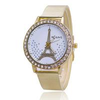 Wholesale Tungsten Diamond Watches - Free shipping Authentic watch magic High-grade diamond tower watch new mesh belt gold watch Ms quartz watches