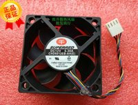 Wholesale Computer Fan Temperature - Original SUPERRED 60*60*20 CHD6012EB-AH DC12V 0.30A 4 wire PWM temperature control double ball fan