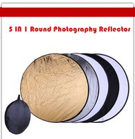Wholesale In cm quot Portable Collapsible Light Round Photography Reflector For Studio Multi Photo Disc Studio Accessories